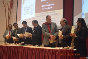 NIIT University  unveils a book on 'Banking Industry and NPAs'