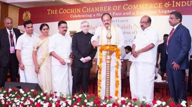 Vice President inaugurates the160th Anniversary Celebration of the Cochin Chamber