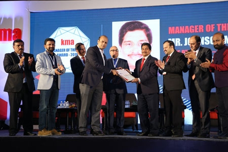 "Johnson Mathew wins  KMA ""Manager of the Year "" Award"